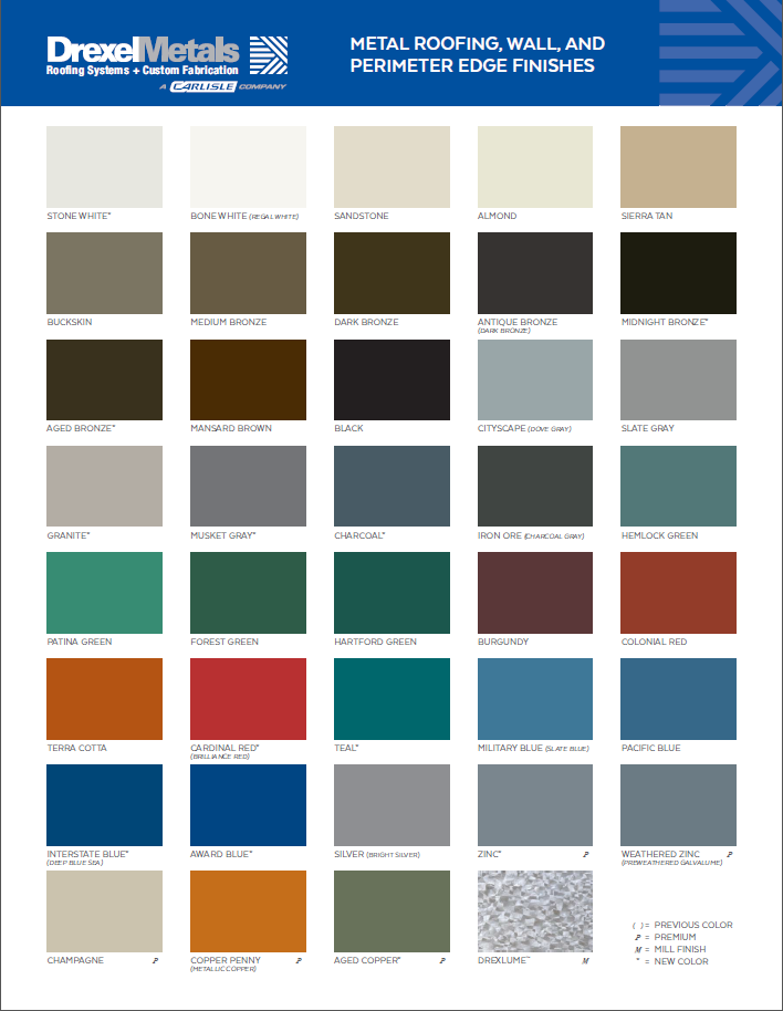2020 Drexel Metals Color Chart_Metal Roofing and Perimeter Edge Finishes.PNG
