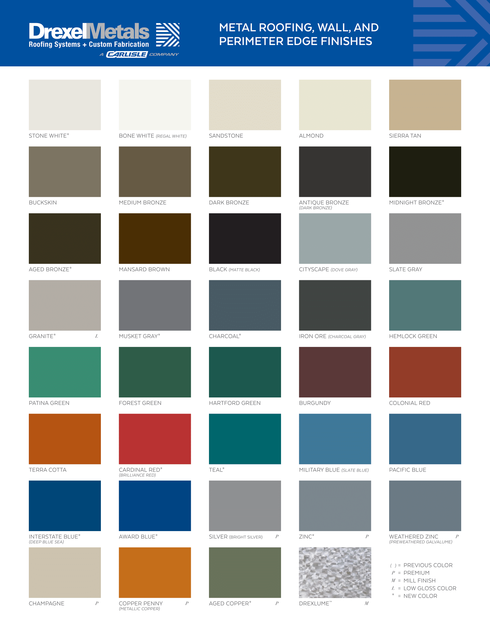 DM-11588 Drexel Metals Metal Roofing and Perimeter Edge Finishes Color Chart 2020-Web Version 09-10-20_page_0001-1.png