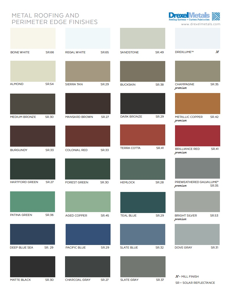 Drexel Metals Color Chart