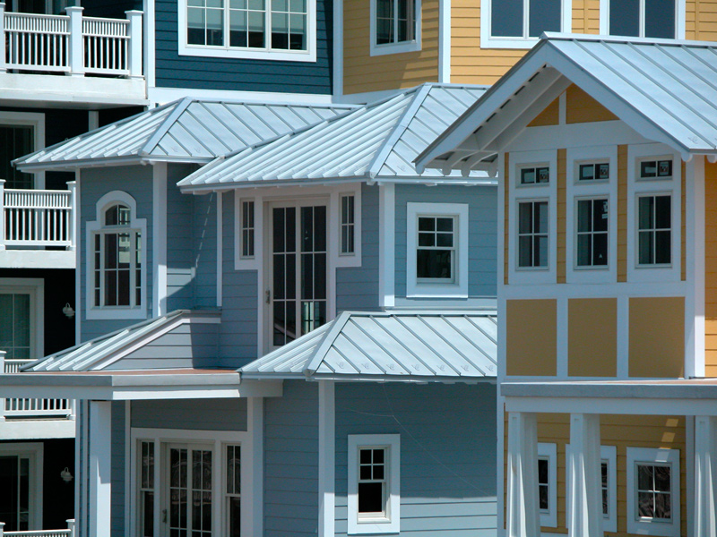 Roof gallery drexel metals for Homes with metal roofs photos