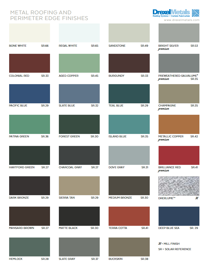 Color Cards Drexel Metals